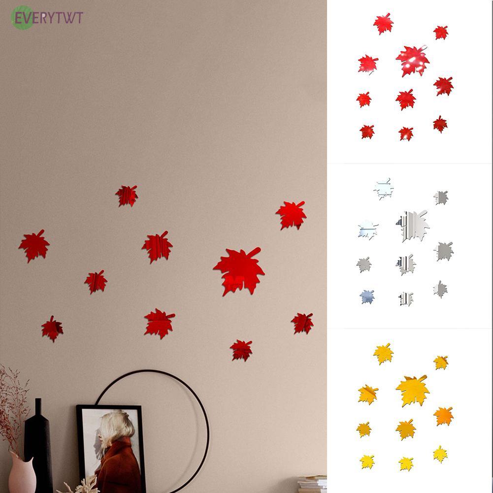 牆貼背景丙烯酸楓葉 Diy 3d 鏡面瓷磚馬賽克