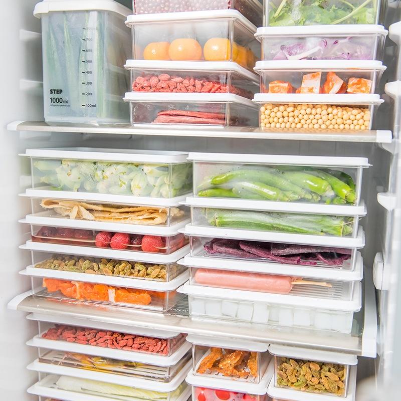 現貨!薄型保鮮盒 薄型收納盒 冰箱收納 食物分裝 分裝收納 食物收納 冷凍保鮮盒 日本主婦 好市多分