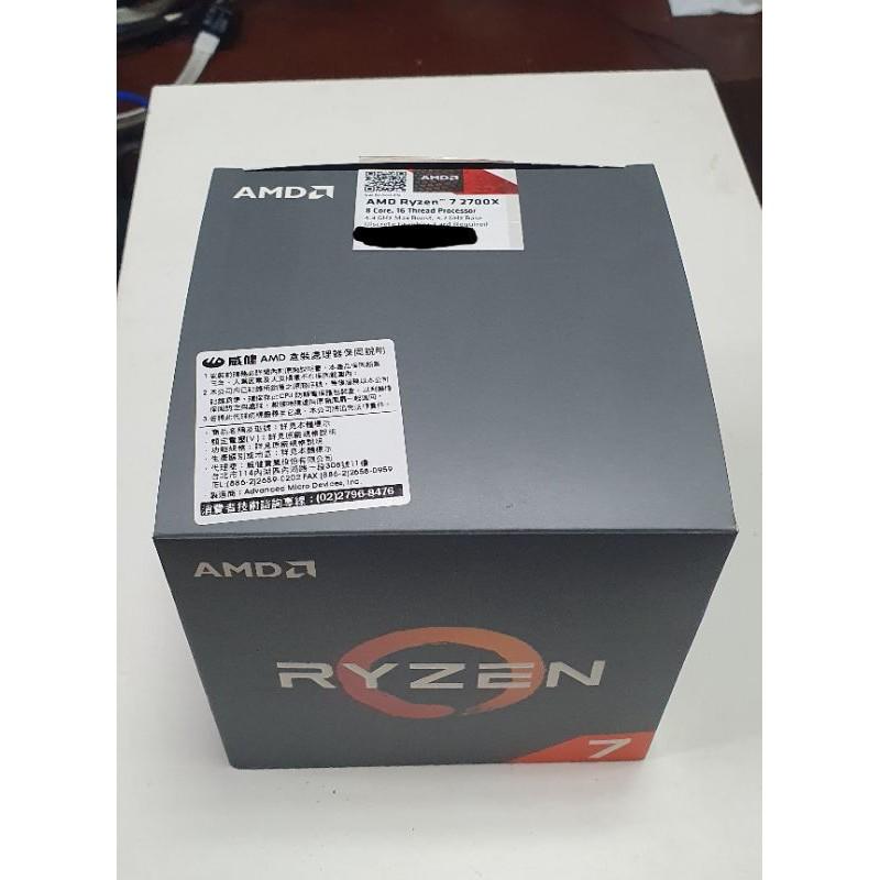 AMD Ryzen R7-2700X 8核16緒
