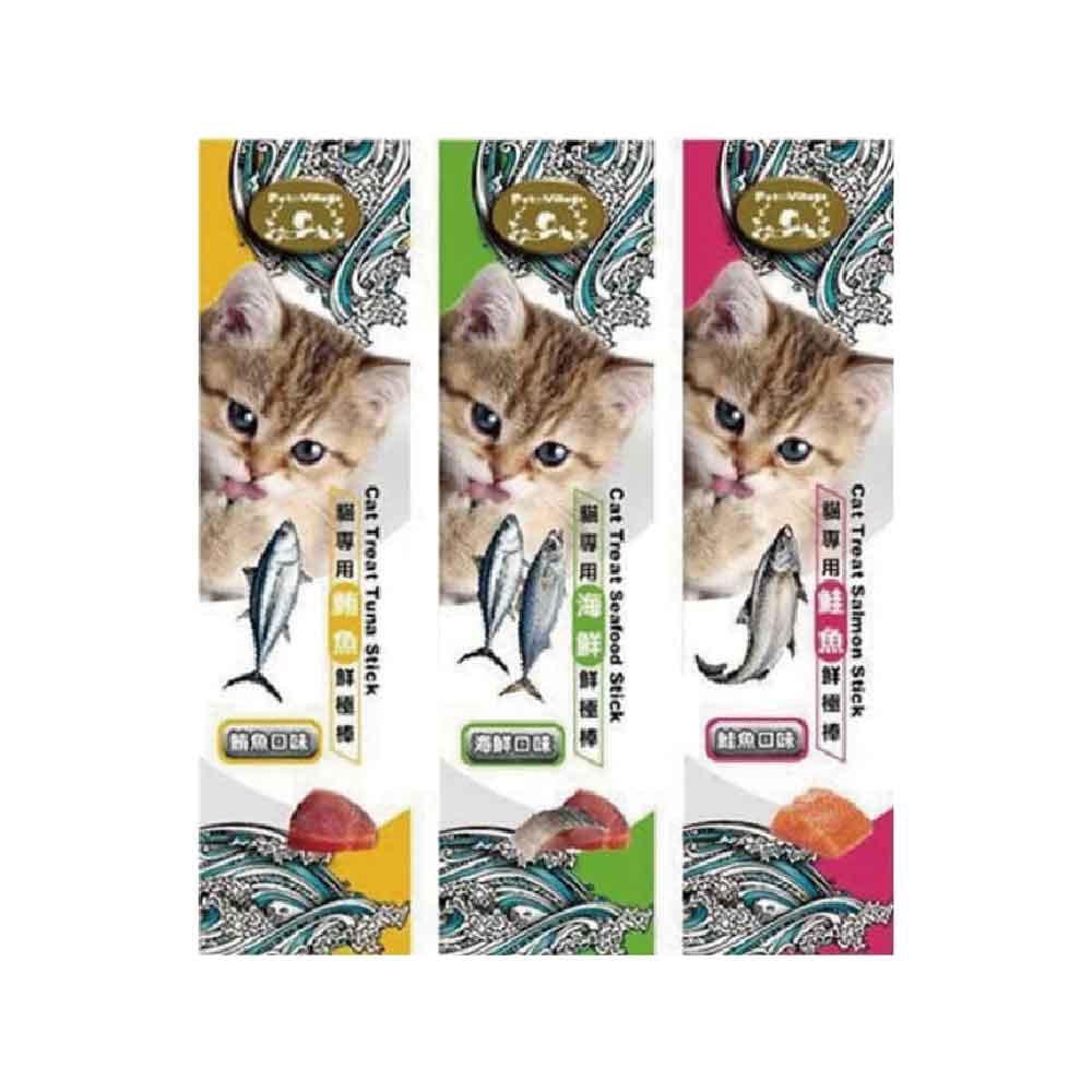 魔法村Pet Village PV 貓專用 鮮極棒 (5g*3入) 鮪魚 海鮮 鮭魚 貓零食 可超取 (D912I01)