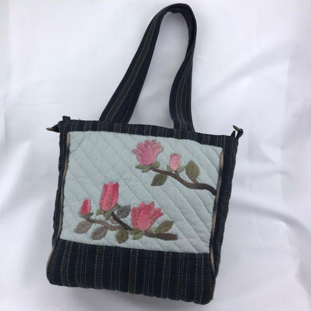 枝上花朵拼布肩背手提包