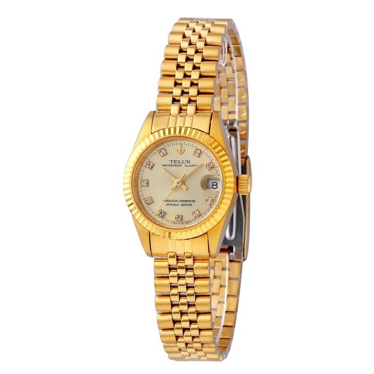 台灣品牌手錶腕錶【TELUX鐵力士】尊爵系列經典女腕錶手錶26mm-另有男款台灣製造金錶8903G-G02