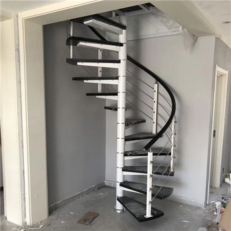 中柱旋轉樓梯閣樓復式樓家用室內戶外圓梯別墅躍層鐵樓梯整體定制