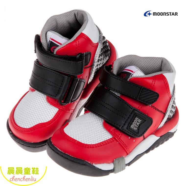 ^.晨晨童鞋.^ 正版現貨 Moonstar日本Carrot紅黑色兒童機能矯健鞋(醫師推薦矯正鞋)(15~21公分)