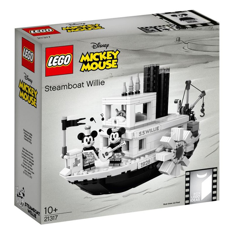 LEGO樂高創意系列迪士尼米奇汽船威利號蒸汽船21317拼裝積木燈光