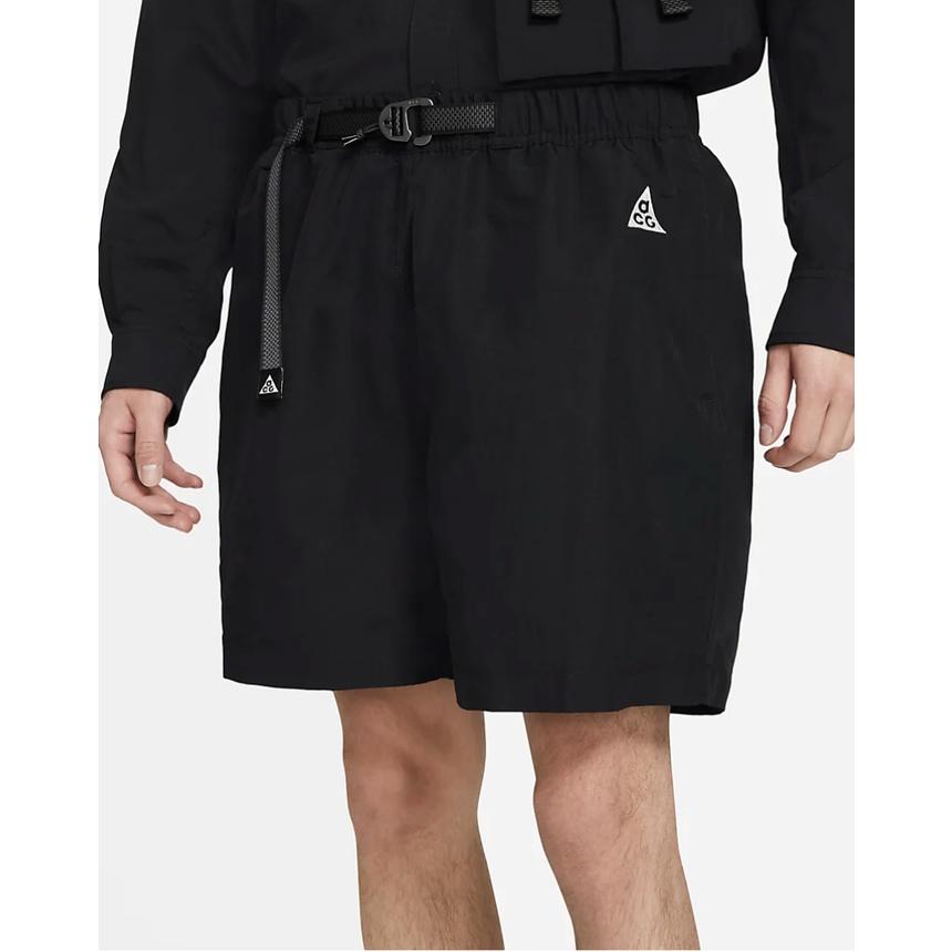 【美國現貨】NIKE ACG Trail Shorts 戶外登山系列 男性 機能工作鬆緊短褲 黑色M/L 公司貨正品