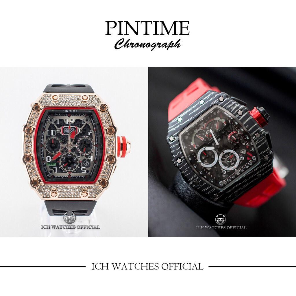 原裝進口PINTIME RM鏤空三眼計時錶-石英錶機械錶手錶男錶女錶理查錶運動錶潛水錶RM53-01生日禮物父親節禮物