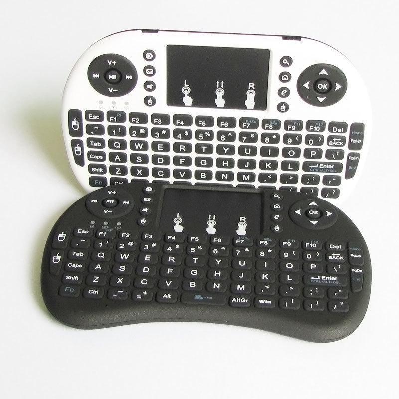 【藍芽注音鍵盤  有線鍵盤】MINI迷你無線小鍵盤i8觸摸鼠標多媒體充電htpc遙控器電腦電視通用