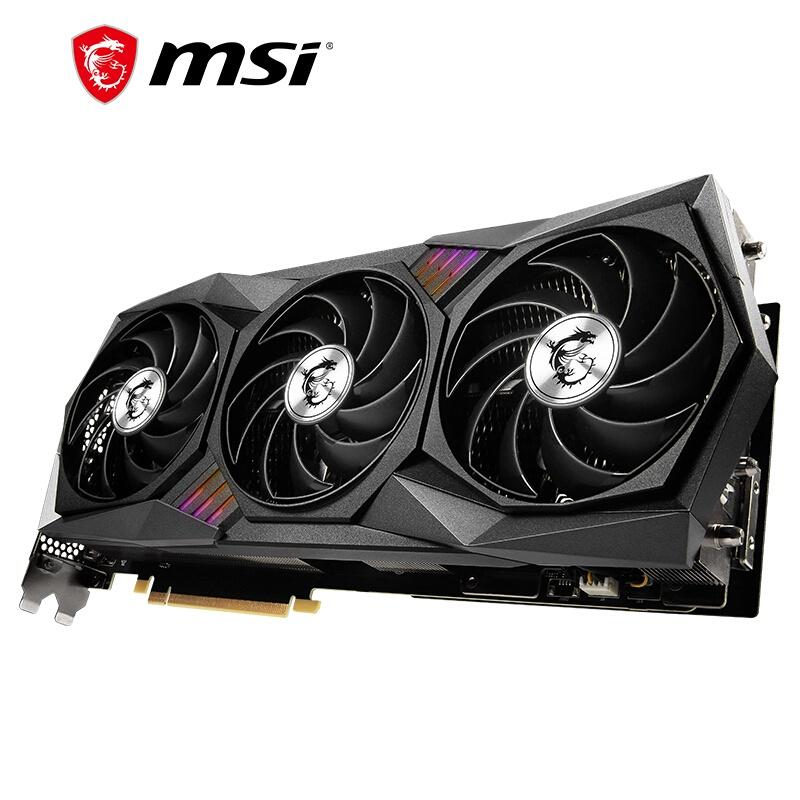 微星(MSI)魔龍 GeForce RTX 3080 Ti GAMING X TRIO 12G電競遊戲設計專業電腦顯卡