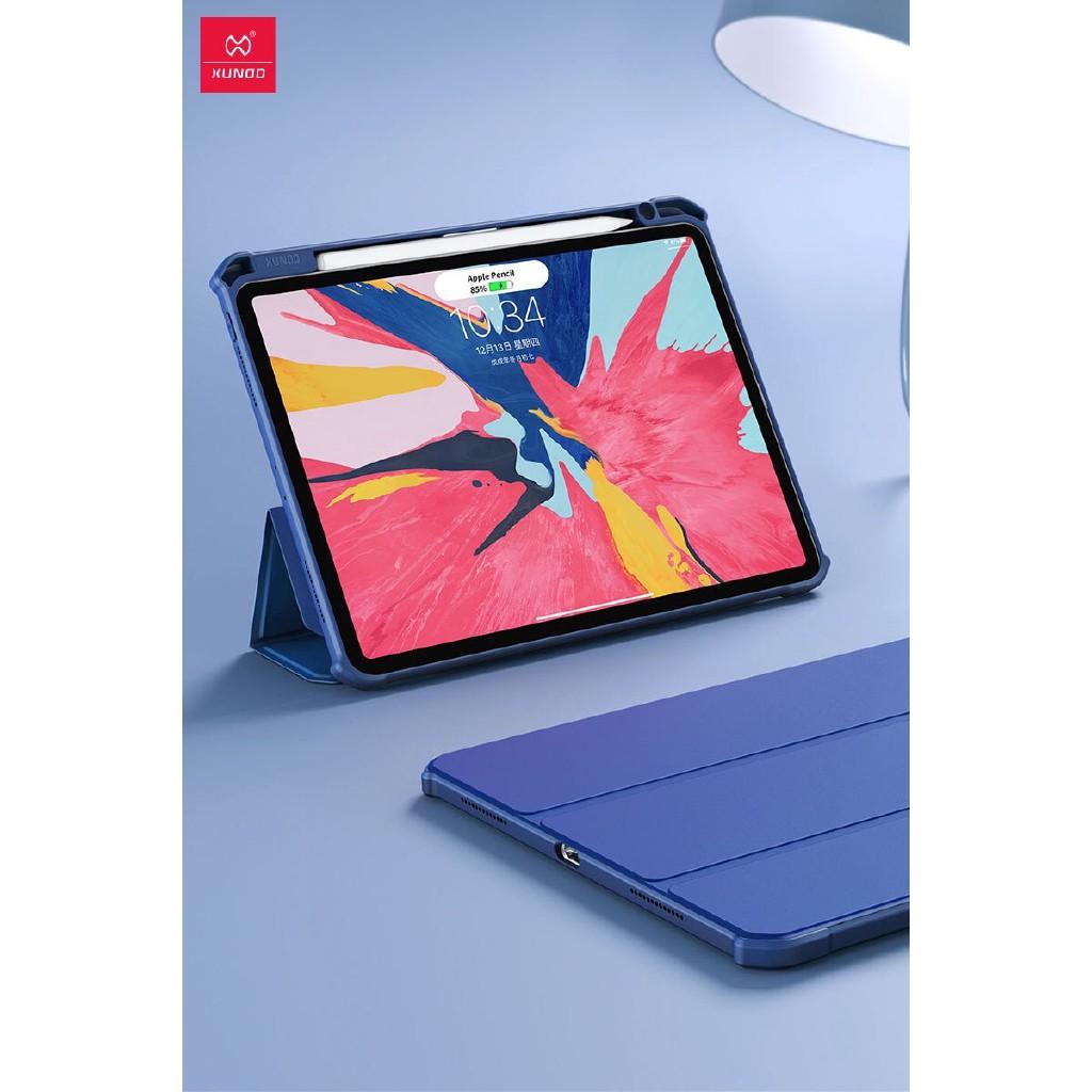 適用於 Ipad Pro 1112.9 2018 的 Xundd 翻蓋防摔智能磁性保護套, 帶筆筒皮革 Tpu 外殼