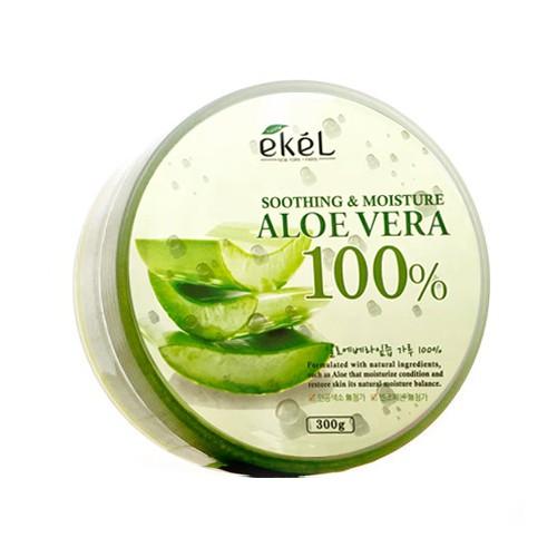 韓國Ekel 100% 舒緩保濕補水蘆薈凝膠300ml 【美日多多百貨生活館】