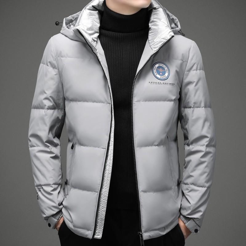 【新品高品質】男式羽絨服2020秋冬新款韓版中長款白鴨絨羽絨服男裝潮牌流外套男