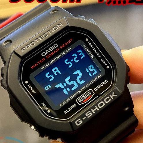 CASIO卡西歐G-SHOCK DW-5600HR-1 110HR GW-B5600HR黑紅運動手錶