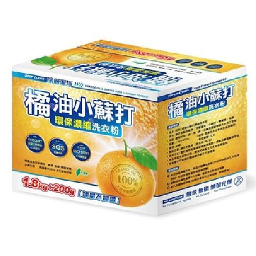 橘油小蘇打 環保濃縮洗衣粉(1.8kg+200g/盒)[大買家]