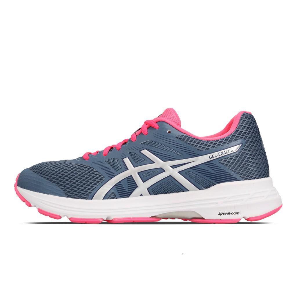 Asics 慢跑鞋 Gel-Exalt 5 藍 白 粉紅 女鞋 1012A148-401 亞瑟士【ACS】