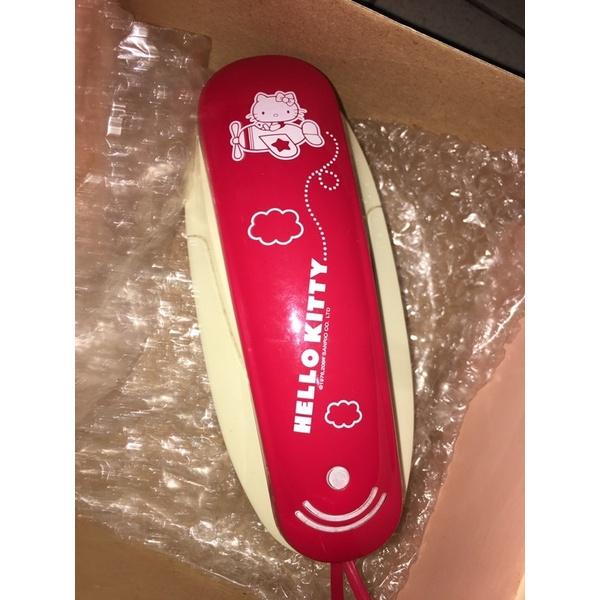 二手HELLO KITTY 紅色家用有線電話/按鍵電話機,台北可面交