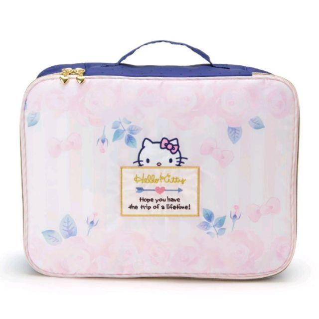 Hello Kitty浪漫粉紅玫瑰系列 旅行收納袋/衣物收納包/防撞包/筆電包