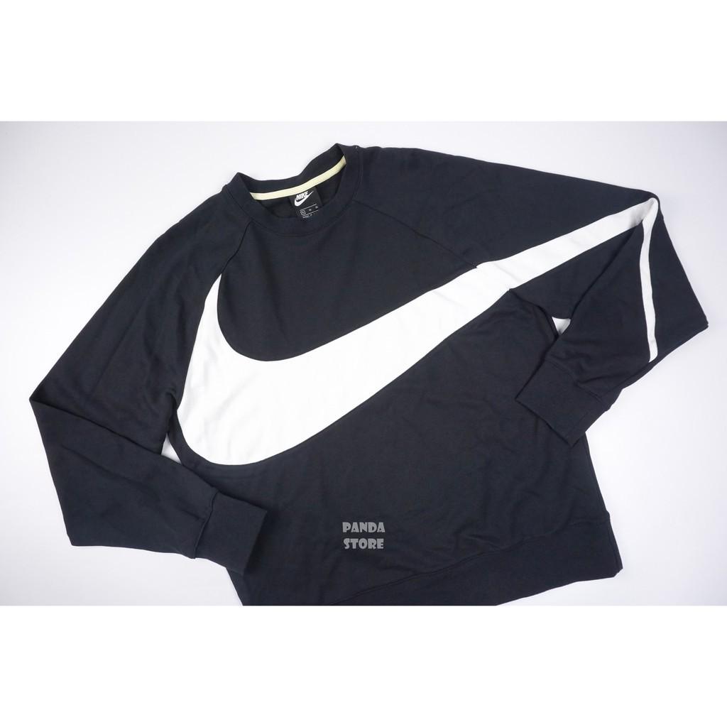 Nike NSW BIG Swoosh 運動 休閒 大勾 長袖 大學T AR3089-012 黑 男303