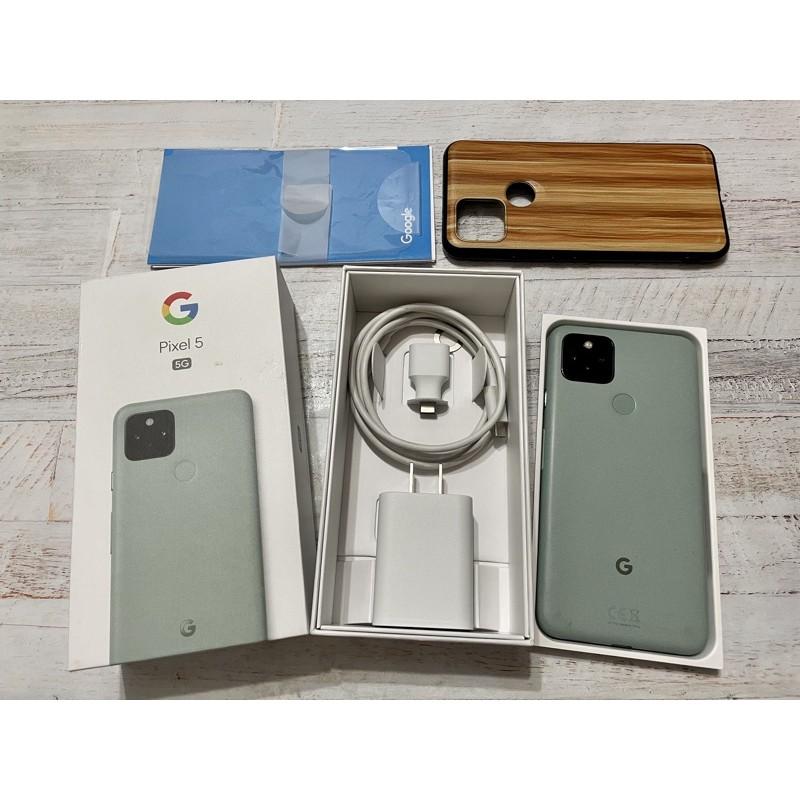 谷歌 Google Pixel 5 8G/128G 綠色 5G 原廠盒配 原生機 非 3 2 3A 4 4A XL