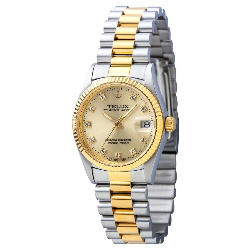 台灣品牌手錶腕錶【TELUX鐵力士】尊爵系列經典男腕錶手錶36mm另有女款台灣製造石英錶金錶7910TG-G02