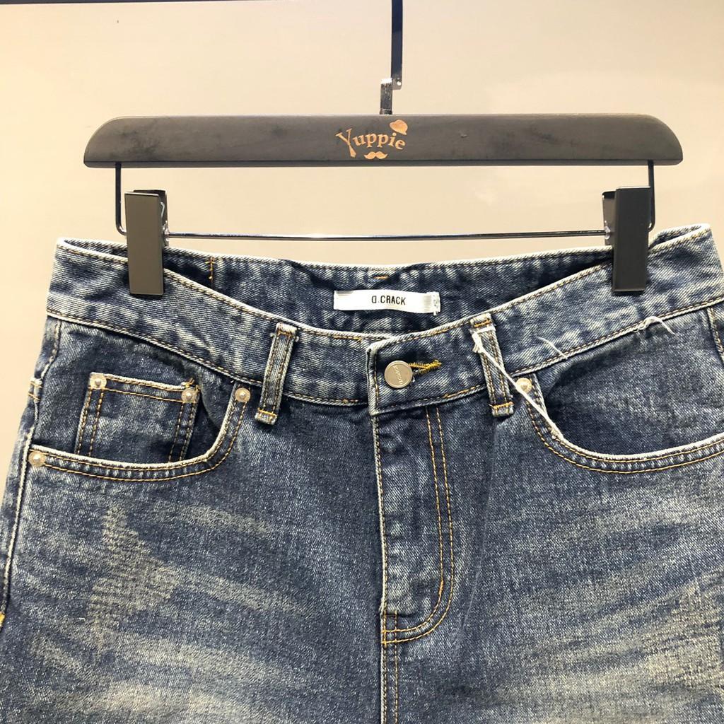 廠家直銷特價微刷破補丁感牛仔短褲 4803 YUPPIE 現貨出清 3件1200