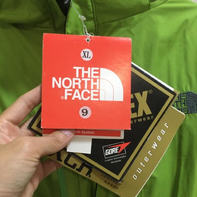 The north face gore-tex 兩件式綠外套(XL)全新 吊牌未拆