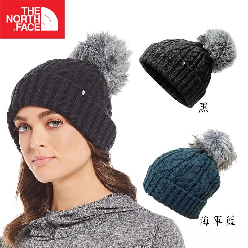 【The North Face 美國】保暖毛球帽 黑/海軍藍 休閒 運動 帽子 戶外 登山 健走 釣魚 NF0A3FJM