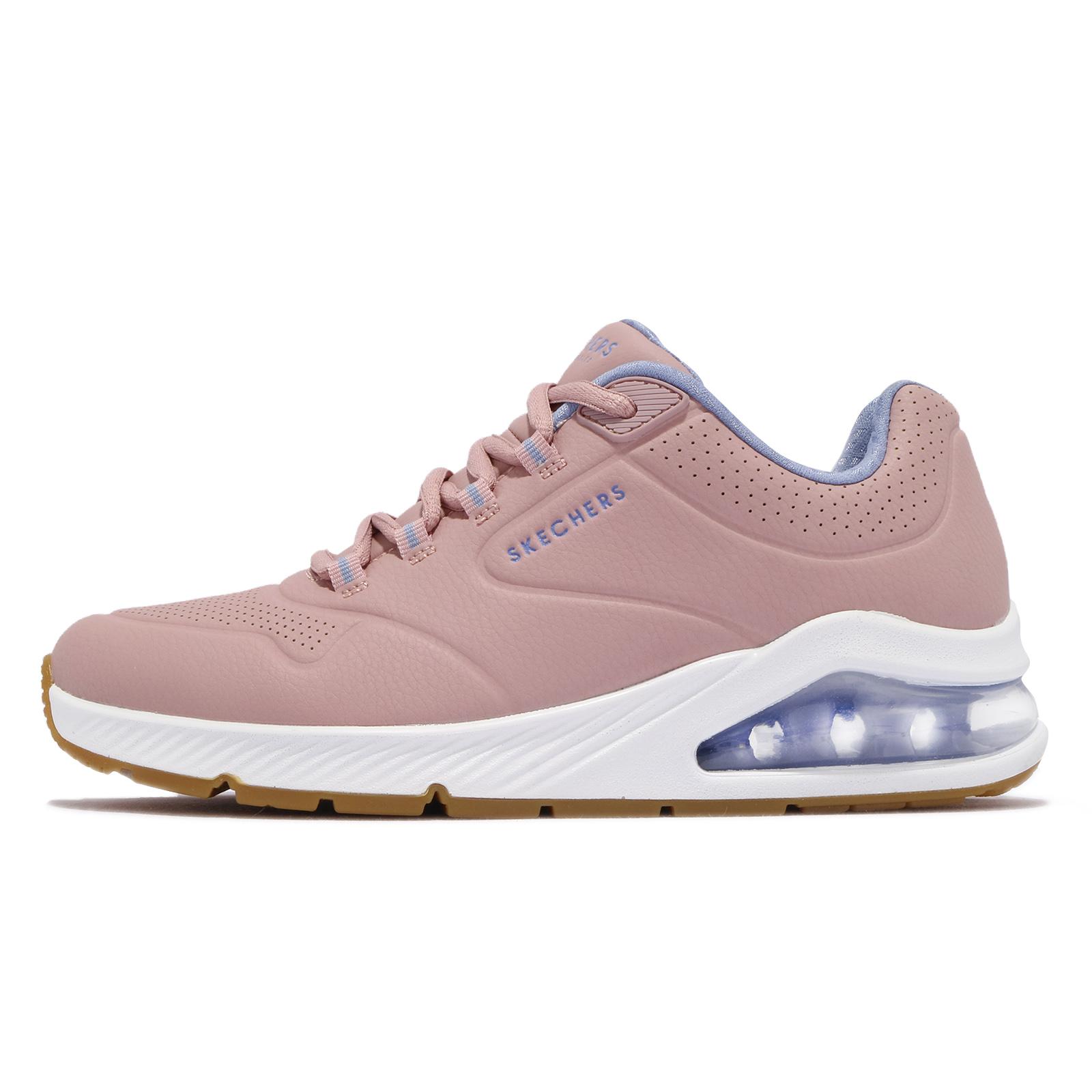 Skechers 休閒鞋 Uno 2 粉紅 藍 女鞋 氣墊 增高 運動鞋 【ACS】 155542MVE