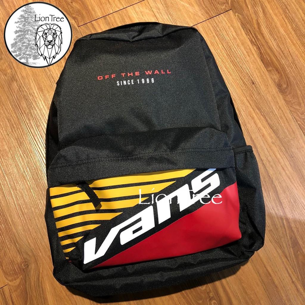 【LionTree】VANS 後背包 黑 黃 LOGO 電繡 運動背包 紅 品牌 背包 書包 旅行包 HWA624500