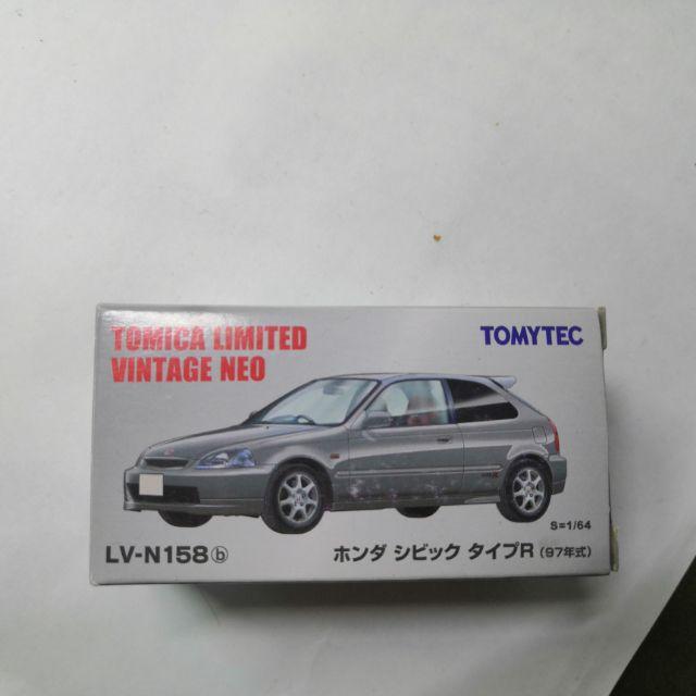 Tomica Tomytec K8  LV-N158 (銀) Honda Civic TypeR (附一個透明殼)