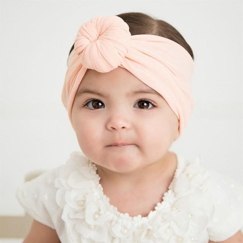 兒童可愛圓圈兔耳朵髮帶 嬰兒頭帶 女孩洋氣純色多色髮飾 女寶寶頭飾【IU貝嬰屋】