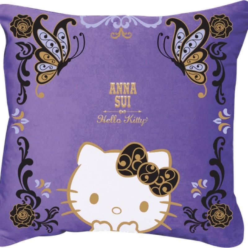 Hello Kitty x Anna Sui 7-11集點 限量刺繡抱枕保暖毯組 魔幻紫款 「現貨」