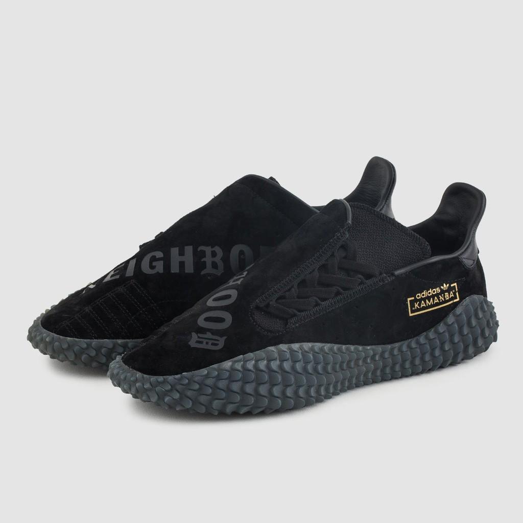 全新正品 NEIGHBORHOOD Adidas X NBHD Kamanda 01 黑 灰 U.K 9 側綁式鞋帶