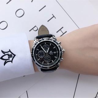 洛杉磯代購 限時下殺 CASIO卡西歐 防水石英皮帶腕錶 三眼計時腕錶 休閒百搭流行手錶