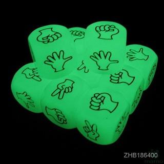 【品質好 玩的放心!】MAMO-夜光雕刻猜拳色子 包剪錘骰子夜光骰子 酒令劃拳助興喝酒骰子 2cm