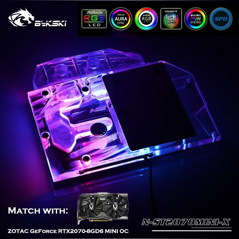 Bykski N-ST2070MINI-X適用於ZOTAC GeForce RTX2070-8GD6 MINI OC顯卡
