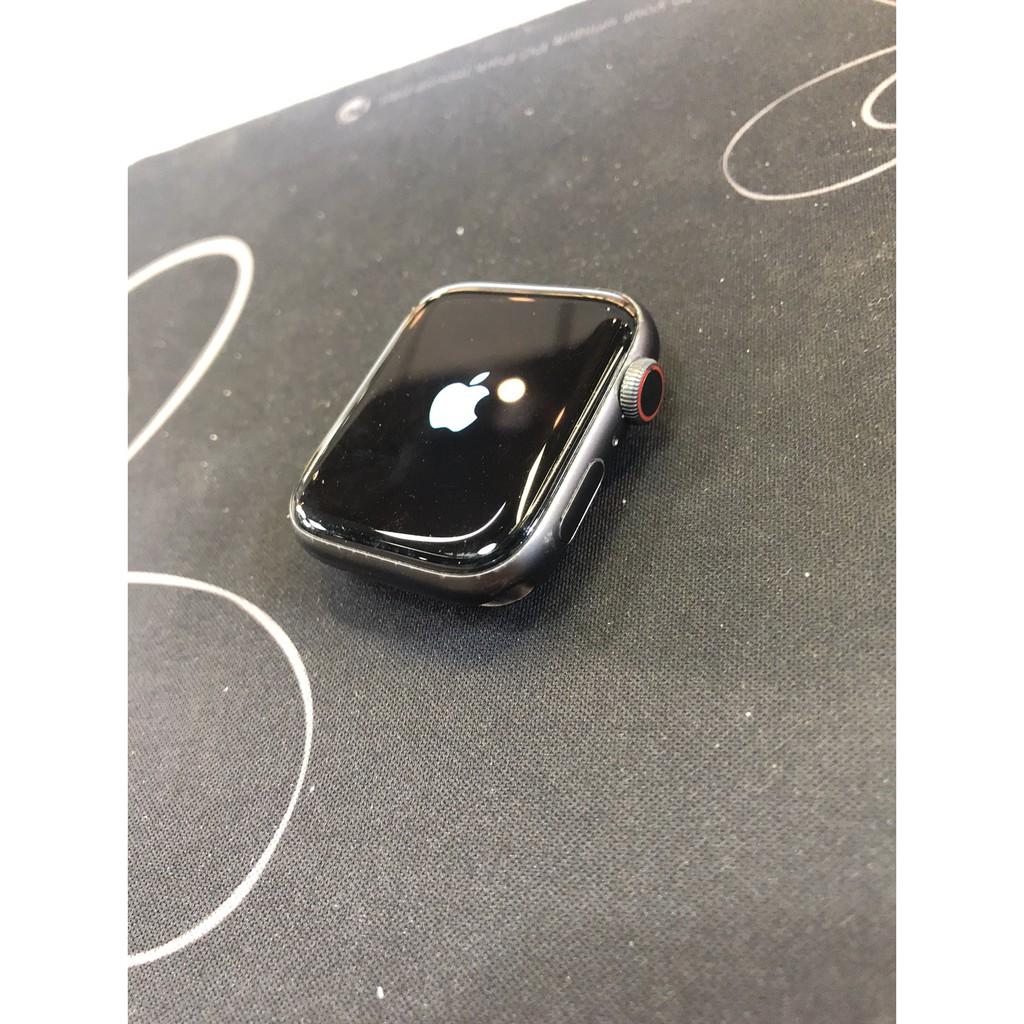 奇機通訊(楠梓店)-售二手 Apple Watch Series 5 五代 44mm LTE 灰鋁框nike錶帶 保固中