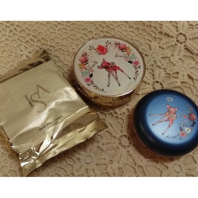 ISA KNOX 小鹿斑比聯名細緻氣墊粉餅+腮紅+櫻花氣墊粉餅