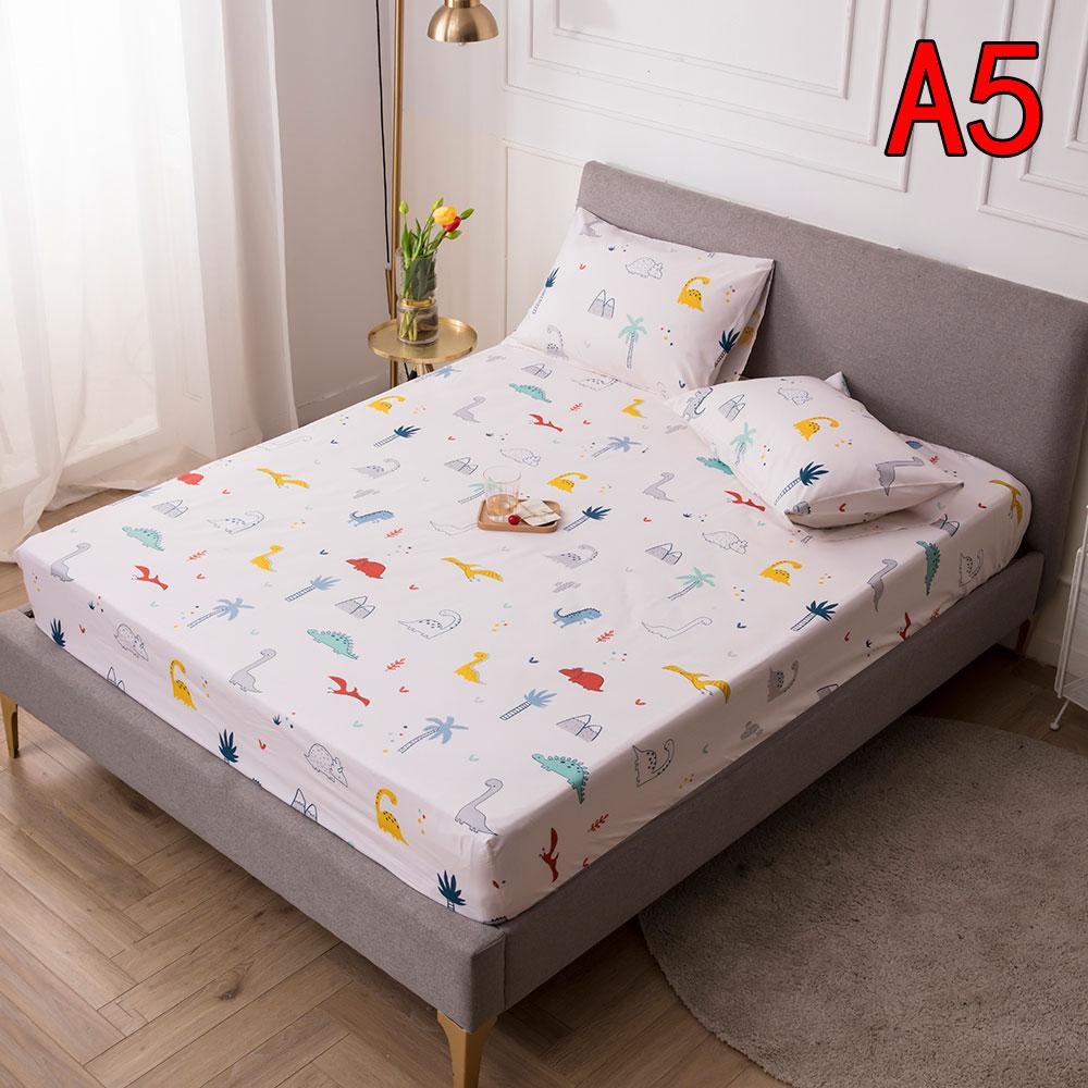 【AMOKEE】100%防水防螨保潔墊 防水床包 吸濕排汗防水 單人/雙人/加大/特大 床單 床包 印花床包