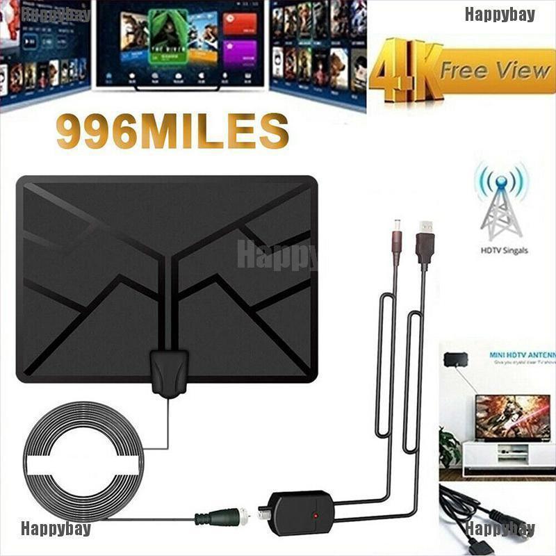 Happybay 1080 Miles 4K 1080P室內數字高清電視天線信號放大器升壓天線