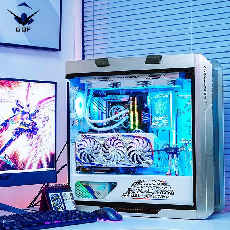 【台灣 現貨】華碩rog全家桶i9 10900 RTX3060 O12G顯卡高達聯名水冷電腦主機