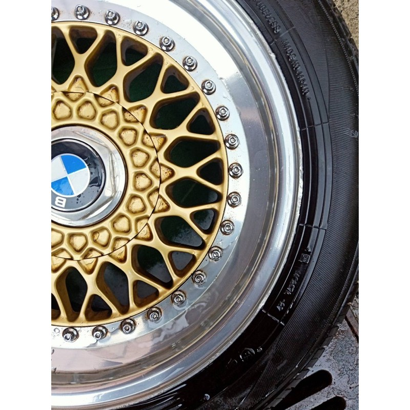 鍛造 正bbs 五孔 16吋 前後配 爆龜 深唇 胎七成新 bmw e36 e30 輪圈 輪框 鋁圈