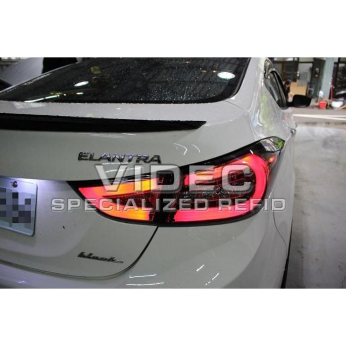 巨城汽車精品 現代 HUNDAI 2012 2013 ELANTRA 紅白光柱 LED 尾燈 另有黑底 燻黑