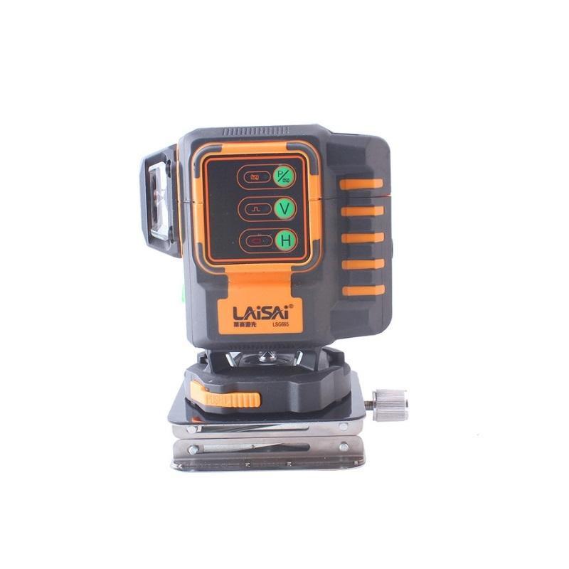 【花蓮源利】LAISAI 萊賽 綠光 12線 貼牆儀 掃平儀 雷射水平儀 LSG665 可遙控 裝潢 輕鋼架 磁磚