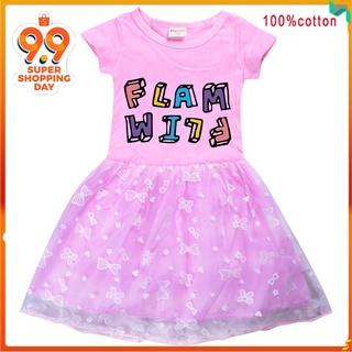 卡通童裝裙子 夏天短袖連衣裙Flamingo Flim Flam 8582