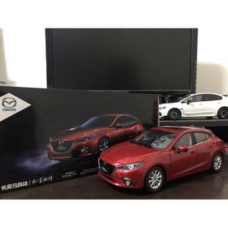 【E.M.C】1:18 1/ 18 原廠 馬自達 Mazda Mazda3 Mazda 3 五門 魂動紅 絕版金屬模型車 臺南市