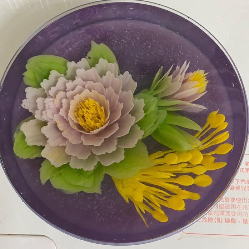 8吋果凍花蛋糕,紫薯口味