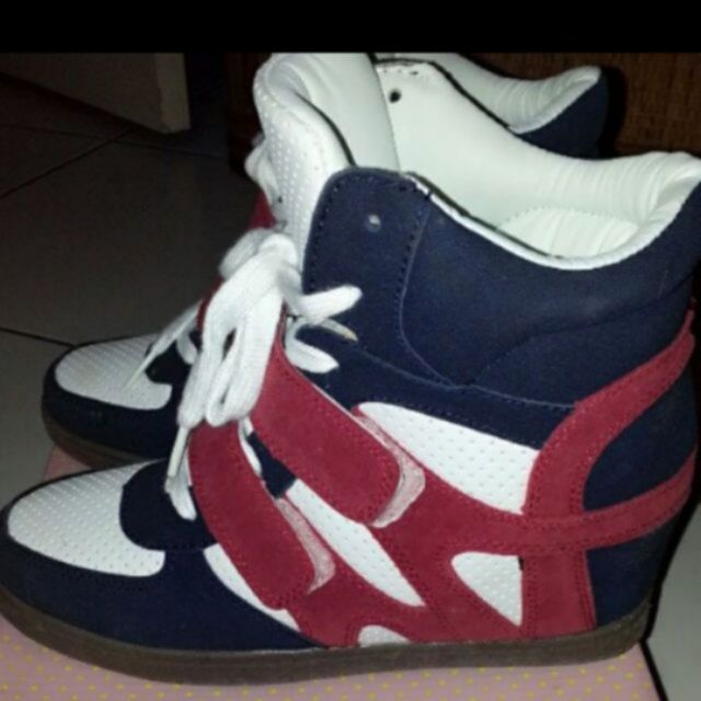 韓 撞色拼接內增高球鞋 休閒鞋 運動鞋 運動風