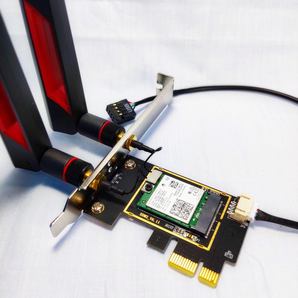 (原廠新批次) Intel AX210 AX200 WiFi6 桌上型電腦無線網路卡 藍牙BT 5.1 5.2 PCIE