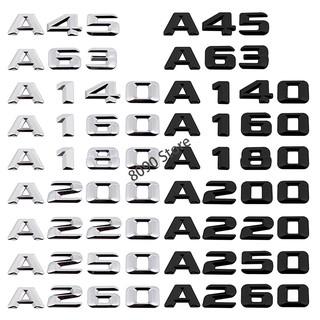 適用於賓士A45 A63 A140 A160 A180 A200 A220 A250 汽車後備箱數字車貼 車尾門金屬貼標